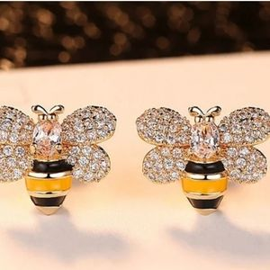 Bee earrings - new